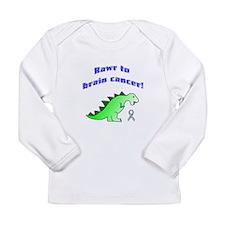 Rawr to Brain Cancer! Long Sleeve Infant T-Shirt