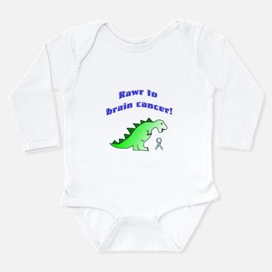 Rawr to Brain Cancer! Long Sleeve Infant Bodysuit