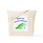 Rawr to Brain Cancer! Tote Bag