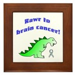 Rawr to Brain Cancer! Framed Tile