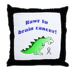 Rawr to Brain Cancer! Throw Pillow