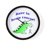 Rawr to Brain Cancer! Wall Clock