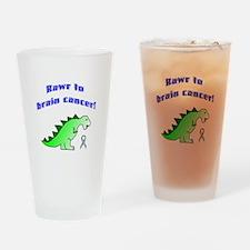 Rawr to Brain Cancer! Drinking Glass
