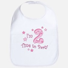 Second / 2nd birthday toddler girl pink Bib
