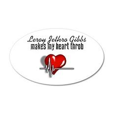 Leroy Jethro Gibbs makes my heart throb 22x14 Oval