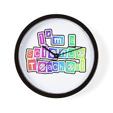 Science Teacher Wall Clock
