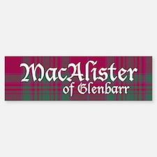 Tartan - MacAlister of Glenbarr Bumper Bumper Sticker