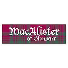 Tartan - MacAlister of Glenbarr Bumper Sticker