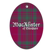 Tartan - MacAlister of Glenbarr Ornament (Oval)