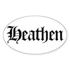 Heathen Oval Decal
