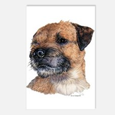 Border Terrier Dog Portrait Postcards(8)