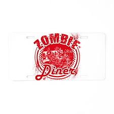 Zombie Diner Aluminum License Plate