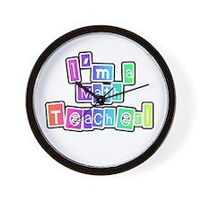 Math Teacher Wall Clock
