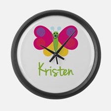 Kristen The Butterfly Large Wall Clock