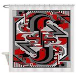 Vintage Deco Tech Shower Curtain