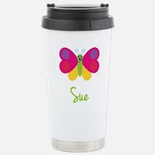 Sue The Butterfly Stainless Steel Travel Mug
