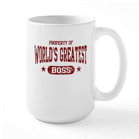 World's Greatest Boss Large Mug