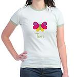 Terri The Butterfly Jr. Ringer T-Shirt