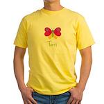 Terri The Butterfly Yellow T-Shirt