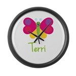 Terri The Butterfly Large Wall Clock