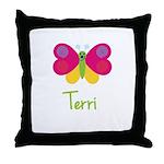 Terri The Butterfly Throw Pillow