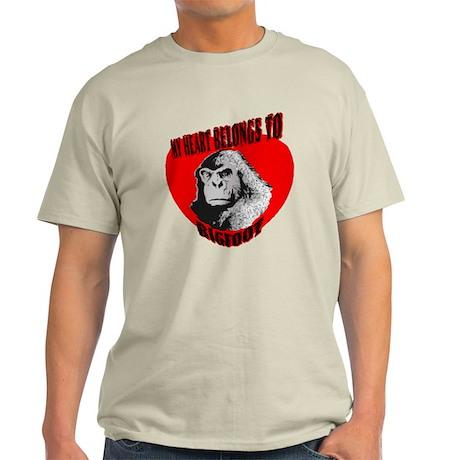 MY HEART BELONGS TO BIGFOOT Light T-Shirt
