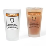 Dont argue with the engineer glass Pint Glasses