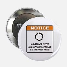 "Engineer / Argue 2.25"" Button (10 pack)"