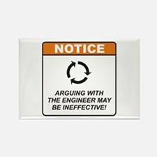 Engineer / Argue Rectangle Magnet