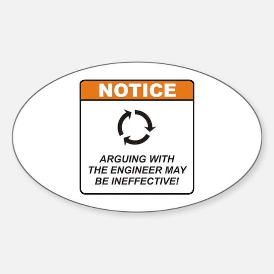 Engineer / Argue Sticker (Oval)