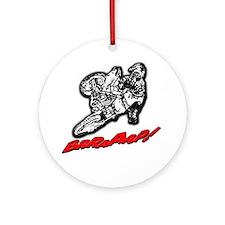 Dirtbike Brraaap Ornament (Round)