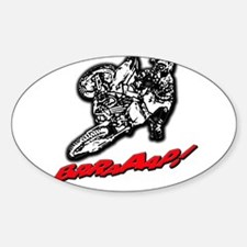 Dirtbike Brraaap Sticker (Oval)