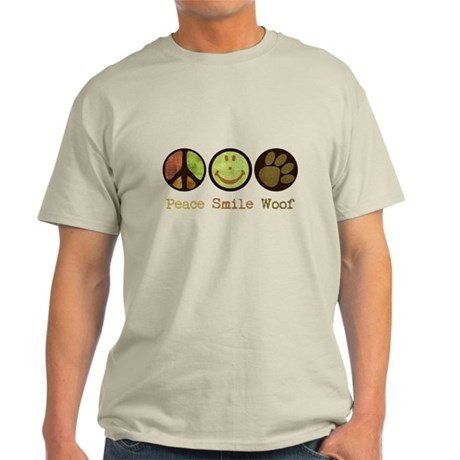 Smile and WOOF Light T-Shirt