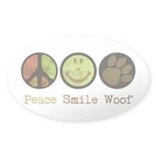 Smile and WOOF Decal