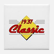 Classic 1937 Sign Tile Coaster
