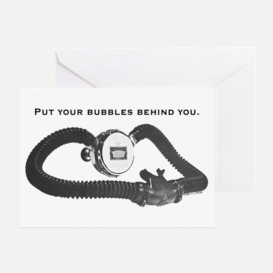 Bubbles Behind Greeting Card
