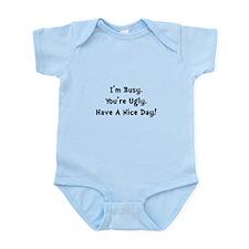 I'm Busy Infant Bodysuit