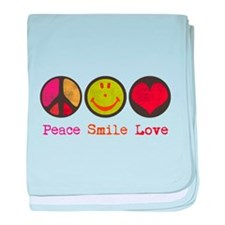 Smile and LOVE baby blanket