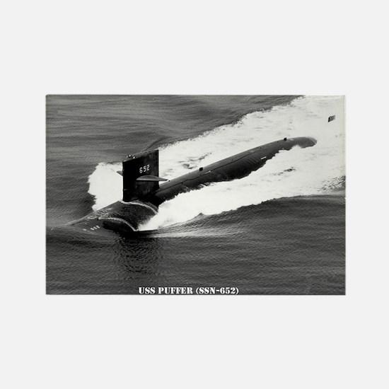USS PUFFER Rectangle Magnet