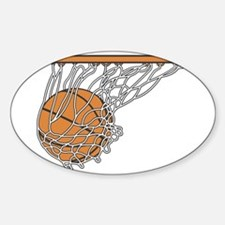 Basketball117 Oval Decal
