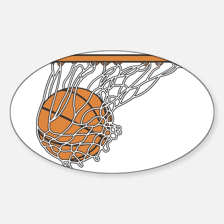 Basketball117 Oval Decal