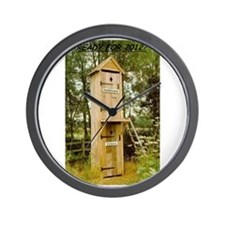 Politician/Voter Outhouse Wall Clock
