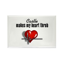 Castle makes my heart throb Rectangle Magnet (100