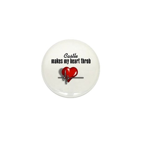 Castle makes my heart throb Mini Button