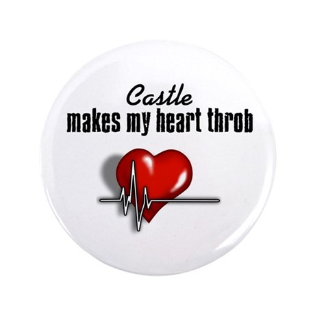 """Castle makes my heart throb 3.5"""" Button (100 pack)"""