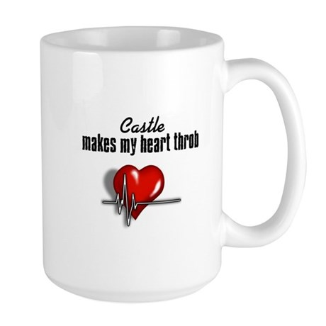 Castle makes my heart throb Large Mug