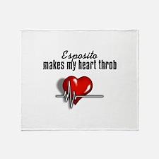 Esposito makes my heart throb Throw Blanket
