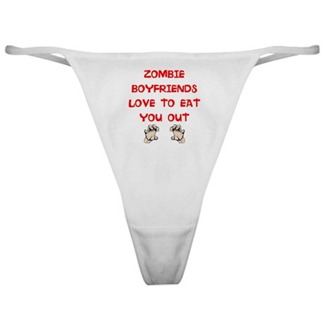 Funny Zombie Boyfriends Thong