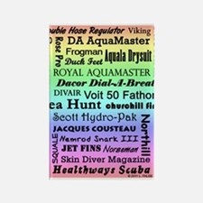 Vintage Scuba Collection Rectangle Magnet