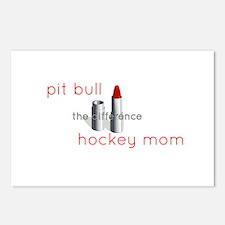 Palin lipstick hockey mom Postcards (Package of 8)